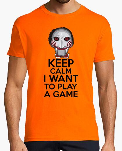 T-shirt keep calm voglio giocare