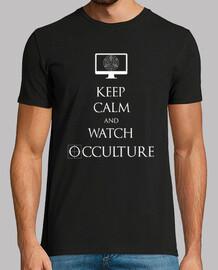 keep calm white men's t-shirt