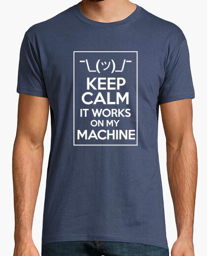 Tee-shirt keep calm work sur ma machine lumière