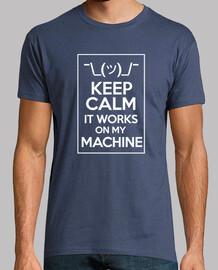 keep calm work sur ma machine lumière