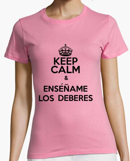 Camiseta Keep Calm y Enséñame los Deberes