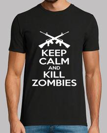 keep calm zombie uomo