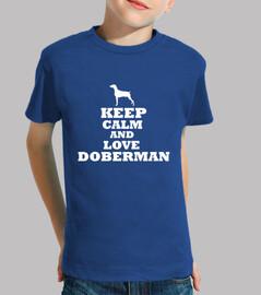 keep calma e amore doberman