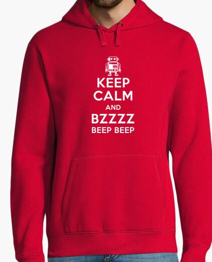 Felpe keep calma e bzzzz bee p bee p