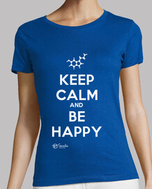 keep le and calm and être :) (fond sombre) heureux