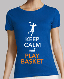 keep le and calm and jouer au basket (femmes)