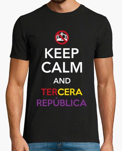 Tee-shirt keep le and calm and la troisième république
