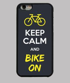 keep le and calm and le vélo sur la couverture iphone 6