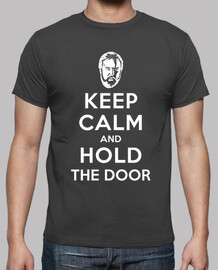 keep le and calm and tenir la porte