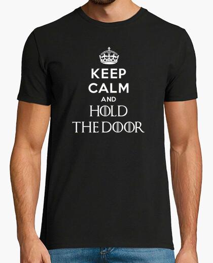 Tee-shirt keep le and calm and tenir la porte