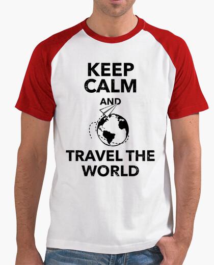 08d795ebe4cdd Tee-shirt keep le and calm and voyager dans le mo - 1770860 | Tostadora.fr