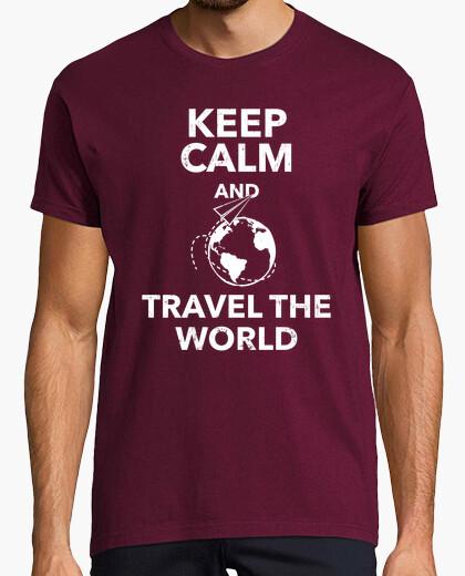 d435943d4e1b4 Tee-shirt keep le and calm and voyager dans le mo - 1770945 | Tostadora.fr