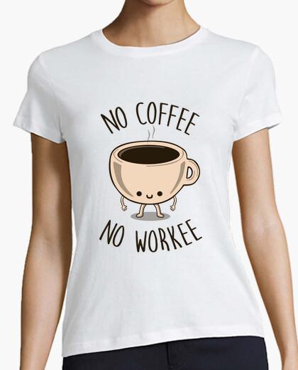 T-Shirt kein kaffee kein workee