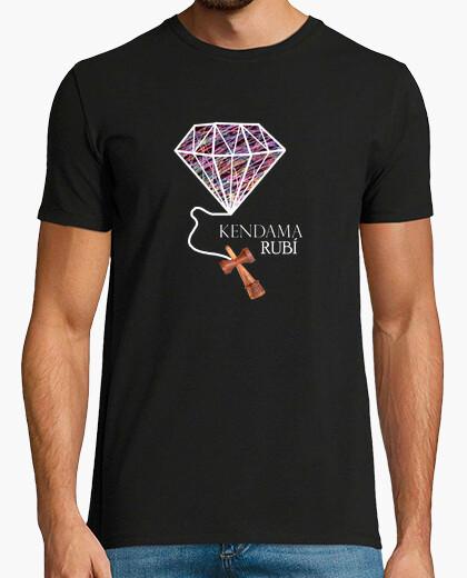 T-shirt kendama ruby - logo colori (riga vuota)