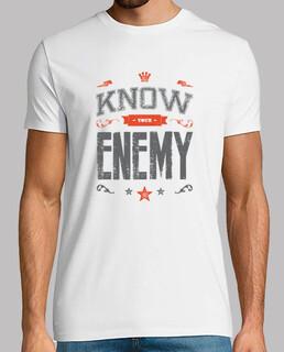 kenne deinen feind t-shirt mann