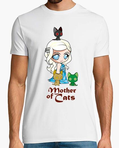 Camiseta Khatleesi Madre de gatos Hombre, manga corta