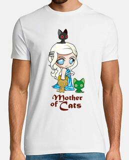 Khatleesi Madre de gatos Hombre, manga corta