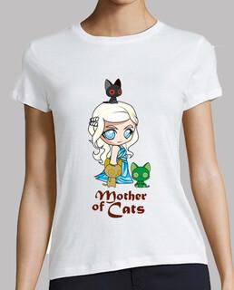 Khatleesi Madre de gatos Mujer, manga corta