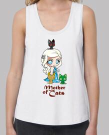 Khatleesi Madre de gatos Mujer, tirantes anchos & Loose Fit