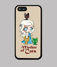 khatleesi mamma dei gatti copertura di iphone 5 / 5s