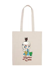 khatleesi mère chat sac en tissu de coton 100