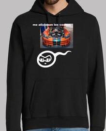 Kid hooded sweater, orange