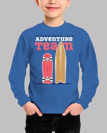 kids adventure team surf skateboarding