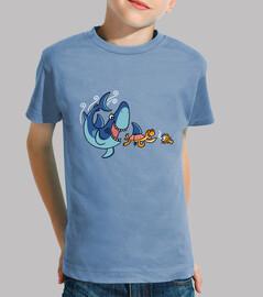 Kids, short sleeve, blue