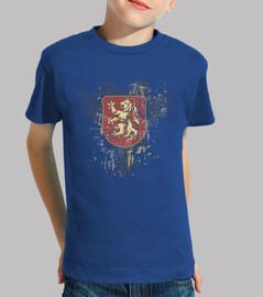 Kids, short sleeve, royal blue