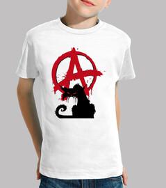 kids t-shirt - anarchist cat