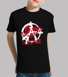 kids t-shirt - anarchy is love