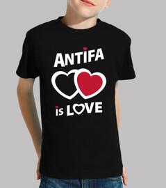 kids t-shirt - antifa is love