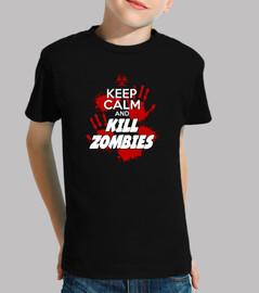 kids t-shirt - keep calm and kill zombies - 1
