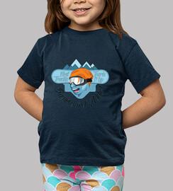 Kids T-shirt Snowboard Addict