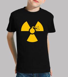 kids tee shirt - yellow nuke bomb