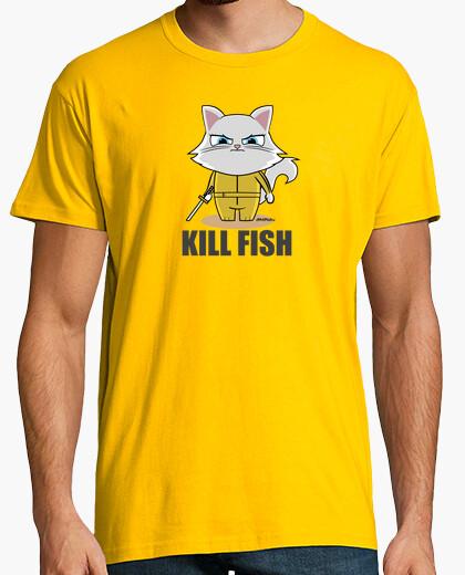 Camiseta Kill Bill parodia gato fish