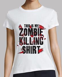 killng zombies shirt girl