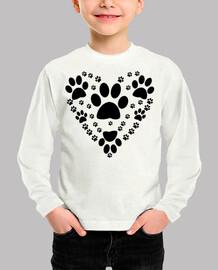 Kinder, Langarm-Shirt weiß