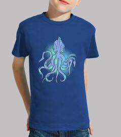Kinder, T-Shirt, royalblau