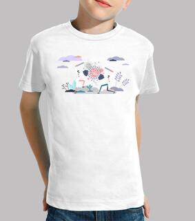 Kinder, T-Shirt, weiß