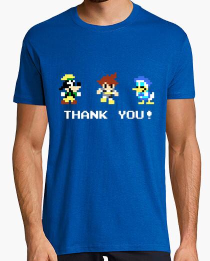 Camiseta Kingdom Hearts Sora, Donald & Goofy pixel