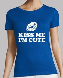 kiss me i'm cute green lips