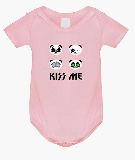 Kiss me panda baby's bodysuits