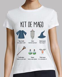 Kit de Mago - Camiseta chica