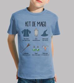 kit wizard - t-shirt figlio