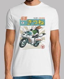 kitsune kamen rider camisa para hombre