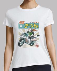 kitsune kamen rider camisa para mujer