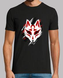kitsune maschera t-shirt tradizionale arte japanese yokai