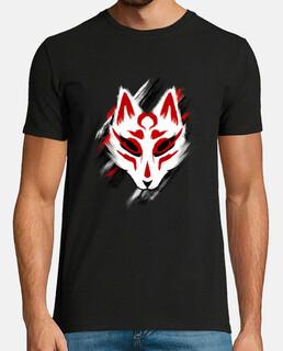 Kitsune mask shirt traditional japanese art yokai