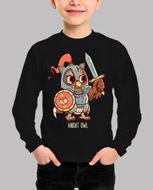 Knight Owl Animal Pun shirt - Kids shirt
